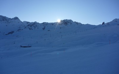 Skiing Arosa