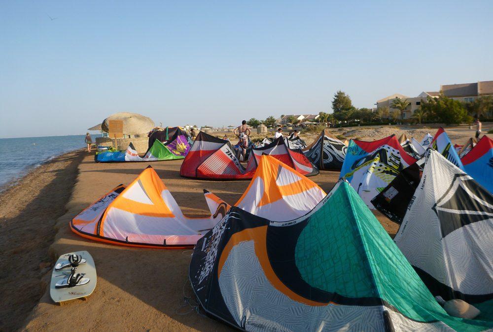 Kitesurfing in El Gouna, Egypt
