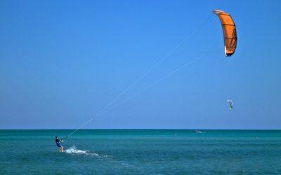 Kitesurfing in Hamata, Egypt