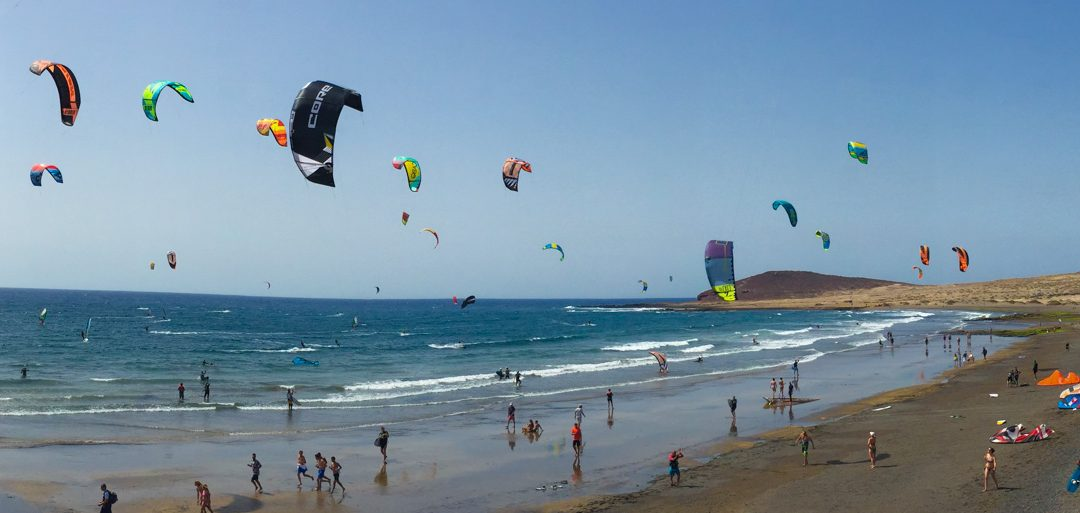 Kitesurfing El Medano, Tenerife, Spain